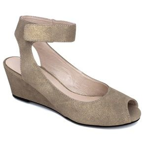 SACHA LONDON VENICE GOLD WEDGE SANDAL